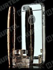 miroir coque iphone 5/5 S,Plastique brillant coquille de couverture cas argent