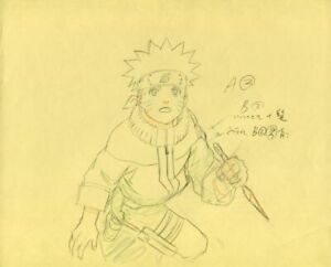 NARUTO Anime Cel Genga Sketch Set #43 Studio Pierrot