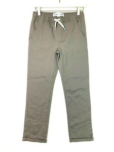 Old navy relaxed slim chino joggers pants grey boys size large 10/12