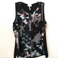 Laundry By Shelli Segal Tank Top Blouse 14 Floral Abstract