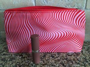 Clinique F/S Even Better Pop Lipstick in 02 Bare Pop w/cosmetic bag promotion Ne