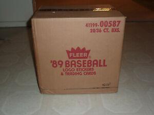 1989 FLEER BASEBALL WAX CASE FACTORY SEALED!!! - CLEAN CASE