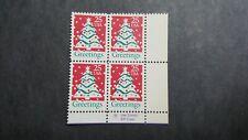 U.S. Scott # 2515 Christmas Tree 25c Plate Block of 4 Stamps  MNH OG 1990