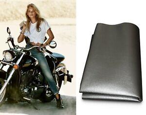 Schwarz Kunstleder Motorrad Sitzbankbezug Sitzbezug Sitzbank universal für Bikes