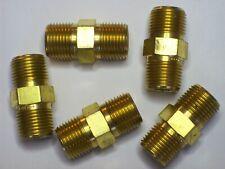 5 - Cajon Swagelok Brass Hex Pipe Nipple, 3/8