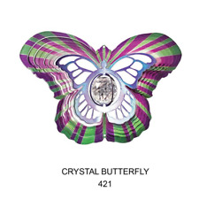 12 inch Crystal Butterfly Wind Spinner-Free Shipping