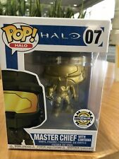 Halo Outpost Discovery Con Exclusive Funko Pop Gold Master Chief With Cortana