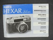 Konica Hexar Silver Camera Instruction Book / Manual / User Guide