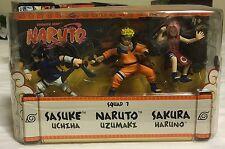 Rare New NARUTO Mattel Shonen Jump SQUAD 7 Anime Set 3-Pack Sasuke Naruto Sakura