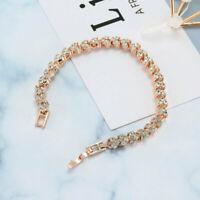 Bracelet Fashion Silver Plated Crystal Chain Women Charm Cuff Bangle New Jewelry