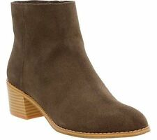 Clarks Wos Boots Ankle Artisan Gelata Flora US 5.5M Brown Leather Fringe Zip