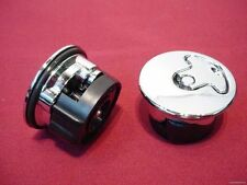 NEW CHROME AIRCRAFT STYLE GAS CAPS SET FOR HARLEY AIRCRAFT BUNGS NON LOCKING