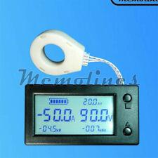 Dc300v 100a 200a 400a Lcd Hall Effect Coulometer Voltmeter Ammeter Sensor Meter