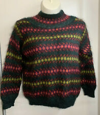 United Colors of Benetton Ladies Sz 46 Multi-color Sweater Made In Italy