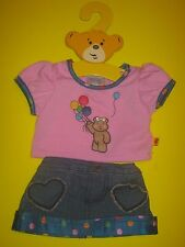 BUILD-A-BEAR DOT BALLOON BLUSH SKIRT Outfit UK EXCLUSIVE ChildrenInNeed (Pudsey)