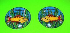 Williams FISH TALES Original NOS Mint Set Of 2 Pinball Machine Promo Plastics
