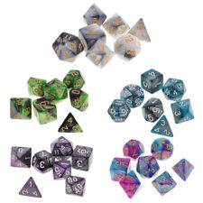 35PCS Polyhedral Dice D20 D12 D10 D8 D6 D4 for  RPG MTG