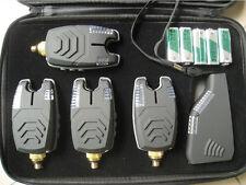 4 x NEW Wireless Bite Alarms set for Carp Fishing- Range Test, NIGHT LIGHT