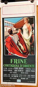 locandina film FRINE CORTIGIANA D'ORIENTE Elena Kleus 1954 PEPLUM