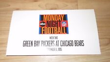ABC Monday Night Football Green Bay Packers Chicago Bears Promotional pack 1995