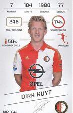 Football Tradingcard Plus 2015-2016 64 Dirk Kuyt Feyenoord Rotterdam