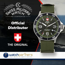 CX Swiss Military HUMVEE Infantry Watch Swiss Quartz Green Strap Green Dial 2897
