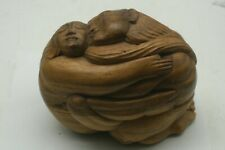 Bali Indonesia Hand Carved Wood Sculpture Kama Sutra Romantic Man & Woman