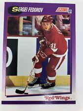 1991 Sergei Fedorov Detroit Red Wings Score Card #250