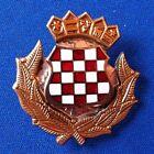 Croatian Army metal hat badge - Hrvatska vojska metalna oznaka - ŠAHOVNICA IKOM