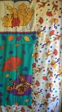 Vintage Disney Winnie the Pooh & Friends Blustery Day Twin Sheet Set RARE