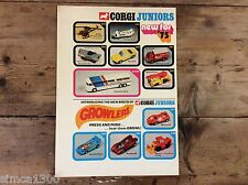 CORGI Press Release folder 1975 Corgi Juniors range Very Rare