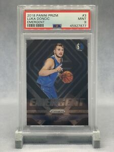 Luka Doncic 2018-19 Prizm Emergent RC PSA 9 Mint #3 Rookie Card 🔥📈