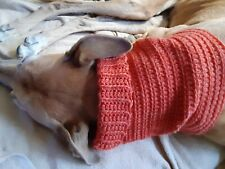 Greyhound Dog Rust Color Snood 2 Cover Neck **100% Donation 2 Cure K9 Cancer