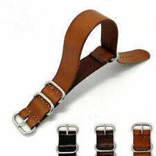 Genuine Leather Watch Band Wrist Watch Straps Steel Buckle 18 20 22MM *