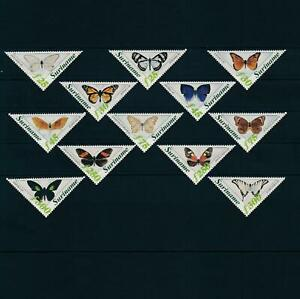 [SU808] Suriname 1994 Insects butterflies schmetterlingen Triangles MNH