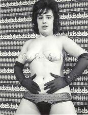 Org Vintage 40s-60s Chair Rp- Brunette- Noir Gants- Transparent Panties-