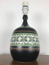 Ambleside pottery table lamp mid century retro.