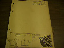 11906 John Deere Parts Catalog Power Unit Ha - 155 - D Pc-624 Dated 4 61