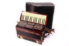 altes HORCH Akkordeon 34 Klaviertasten | 80 Bässe Register Ziehharmonika ROT
