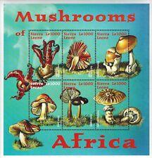 MODERN GEMS - Sierra Leone - Mushrooms of Africa - Sheet of 6 - MNH