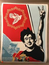 Signed Shepard Fairey REVOLUTION IN OUR TIME Poster Print S/N #/500 Obey Giant