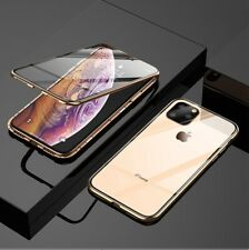 For iPhone 11 Pro X XS Max XR 7 8 Plus Full Body Front+Back Glass Magnetic Case