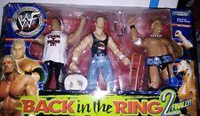 WWE Jakks Figuren Back in the Ring 2 Rikishi Triple H The Rock Original Verpackt