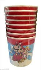 SUPER MARIO BROS VINTAGE 7oz PAPER CUPS (8) ~ Birthday Party Supplies Drinking