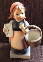 "Goebel Hummel ""Meditation"" 4 1/4"" Figurine #13/2/0 TMK-4 1960-1972 Girl w/Basket"