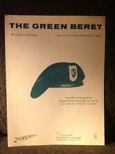 The Green Beret (1964) P. G. Fairbanks And Ken Whitcomb, U. S. Army