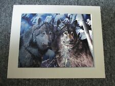 """Dufex Foil Picture Print - Winter Wolves  6"""" x 8"""" Matted"""