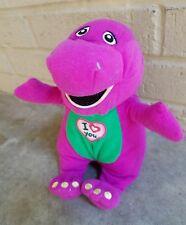 "9"" Plush Stuffed BARNEY the Purple Dinosaur Sings I LOVE YOU Song Works 2013"
