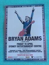 BRYAN ADAMS - 2013 Australia Tour - Laminated Promo Poster - SYDNEY!