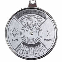50 Years Perpetual Calendar Keyring Metal Compass Keychain Pendant Time Schedule